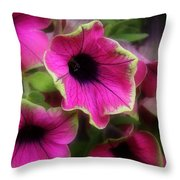 Magenta Petunia Throw Pillow