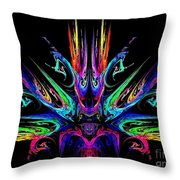 Magic Fire Throw Pillow by Klara Acel