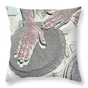 Magic Hands Throw Pillow