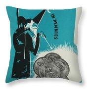 Magic In Pennies Throw Pillow