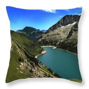 Magic Lake Throw Pillow