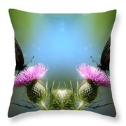 Magical Butterflies Throw Pillow