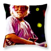 Magical Jerry Garcia Throw Pillow