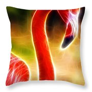 Magical Pink Flamingo Throw Pillow