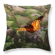 Magical Places For Butterflies Throw Pillow