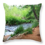 Magical Trees At Red Rock Crossing Throw Pillow