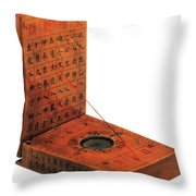 Magnetic Compass Throw Pillow