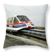 Magnetic Levitation Train Throw Pillow