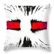 Magnetic Repulsion Throw Pillow