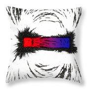 Magnetism Throw Pillow