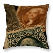 Magnification Of Classic 19th Century Throw Pillow