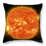 Magnificent Coronal Mass Ejection Throw Pillow