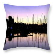 Magnificent Vancouver Sunset Throw Pillow by Will Borden
