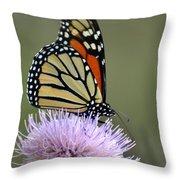 Magnificient Monarch Throw Pillow