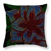 Magnolia Abstract Sketch Throw Pillow
