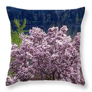 Magnolia By The Lake Throw Pillow
