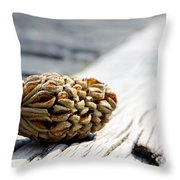 Magnolia Cone Throw Pillow