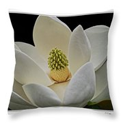 Magnolia I Throw Pillow