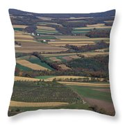 Mahantango Creek Watershed, Pa Throw Pillow