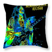 Mahogany Rush Seattle 1978 B Throw Pillow