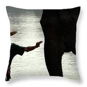 Mahut With Elephant Throw Pillow