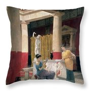 Maidens In A Classical Interior Throw Pillow
