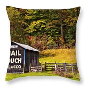 Mail Pouch Tobacco Barn Throw Pillow