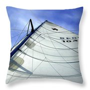 Main Sail Throw Pillow