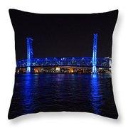 Main Street Bridge At Night Throw Pillow