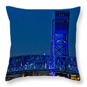 Main Street Bridge Jacksonville Throw Pillow