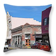 Main Street In Silver City Nm Throw Pillow