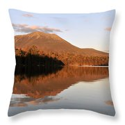 maine 25 Baxter State Park Mt. Khatahdin Reflection in Daicey Pond Throw Pillow