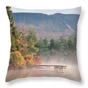 maine 26 Baxter State Park Mt. Khatadin Morning Mist on Daicey Pond Throw Pillow