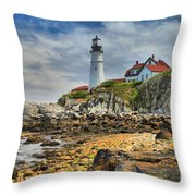 Maine Head Light Throw Pillow