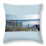 Maine Highway Throw Pillow