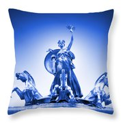 Maine Monument  In Blue Throw Pillow