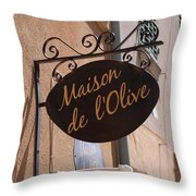Maison De L'olive Throw Pillow