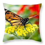 Majestic Monarch Throw Pillow