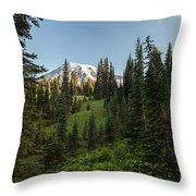 Majestic Rainier Throw Pillow