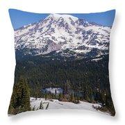 Majestic Rainier Reflected Throw Pillow