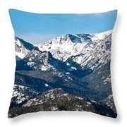 Majestic Rockies Throw Pillow