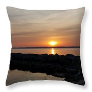 Majestic Sunset At The Point Throw Pillow