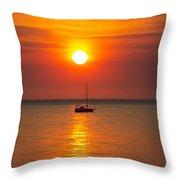 Majestic Sunset V2 Throw Pillow