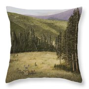 Majesty In The Rockies Throw Pillow