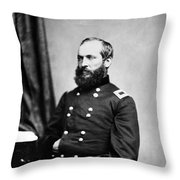 Major General Garfield, 20th American Throw Pillow by Chicago Historical Society