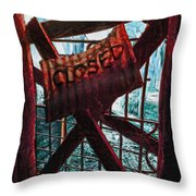 Make Sure You Are On The Right Side Of Heaven's Gate Throw Pillow