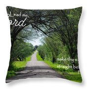 Make Thy Way Straight Ps 5 Throw Pillow