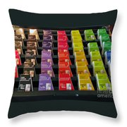 Make Your Choice. All Colors All Tastes. Throw Pillow