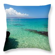 Makena Turquoise Throw Pillow