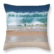 Makena Waves Throw Pillow